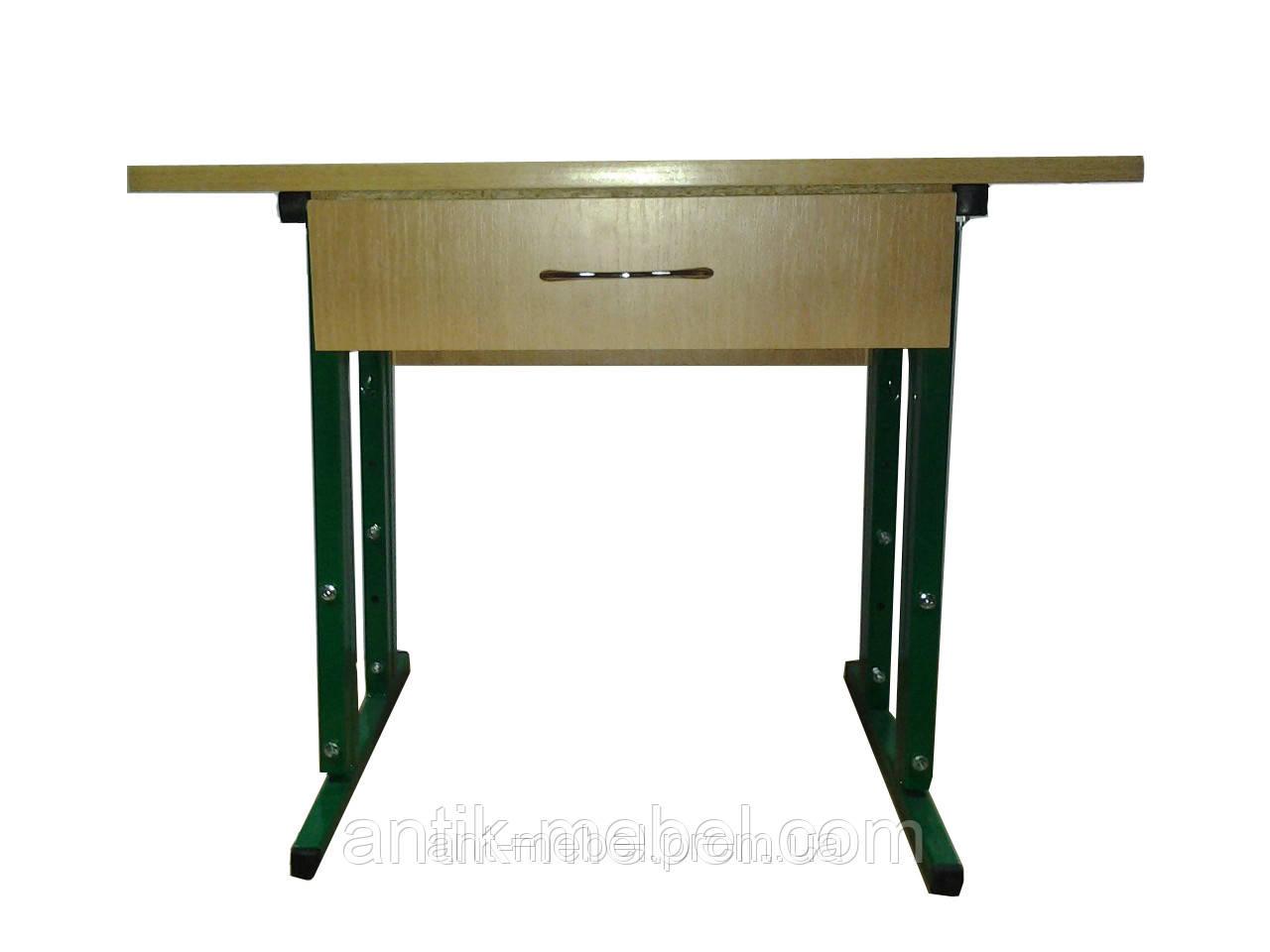 Детский стол регулируемый одноместный с ящиком, фото 1