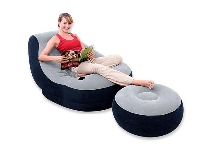 Надувне крісло з пуфом Intex 130х99х76 см (68564)