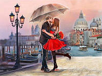 Алмазная вышивка Страстный поцелуй под зонтом 50*40 см (арт. FS420)