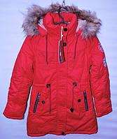Зимова куртка -парка для дівчат 10-13 років MR червона