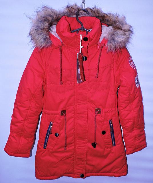 Зимова куртка -парка для дівчат 10-13 років MR червона - Камала в  Хмельницком 3f33e5ecab2b9
