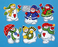 """Набор для вышивания крестом """"I Love Snow//Я люблю снег"""" Design Works"""