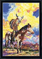 "Набор для вышивания крестом ""Native American Sunset//Заказ Индейца"" Design Works"