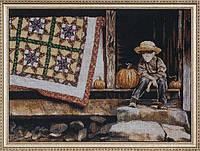 """Набор для вышивания крестом """"Pumpkin Porch//Тыква на крыльце"""" Design Works"""