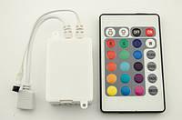Инфракрасный контроллер светодиодной RGB ленты 12А 24 кнопоки ИК