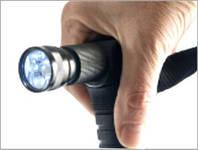 Трость складная с фонариком (палка для передвижения и пожилых людей Меджик)