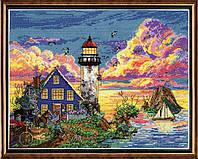 """Набор для вышивания крестом """"Lighthouse Sunset//Закат у маяка"""" Design Works"""