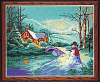 """Набор для вышивания крестом """"Winter Cottage//Зимний коттедж"""" Design Works"""