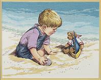 """Набор для вышивания крестом """"Seashore Fun//Веселье на морском берегу"""" Janlynn"""