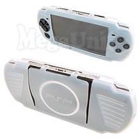 Силиконовый чехол для Sony PSP 3000/2000 (белый), фото 1