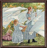 """Набор для вышивания крестом """"Fresh Linen//Свежее постельное белье"""" Design Works"""
