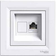 Розетка сетевая интернет белая ASFORA Schneider electric EPH4300121