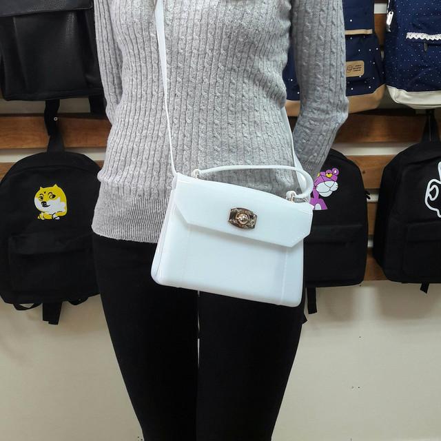 Женская силиконовая сумочка-клатч