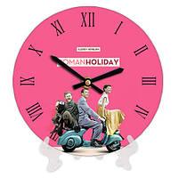 Часы настольные с принтом Римские каникулы 18 см