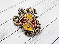 Герб Значок Гриффиндор из Гарри Поттера (премиум), брошь Гермионы в подарочной коробке