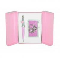 Набор подарочный Crystal Heart ручка шариковая и визитница, LS.122010 Langres