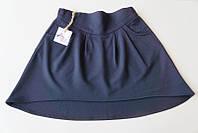 Яркая трикотажная юбка, синий (р.134,140,152)