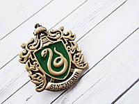 Герб Значок Слизерин из Гарри Поттера (премиум), брошь Драко Малфоя в подарочной коробке