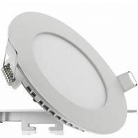 Светодиодный светильник врезной   круг/квадрат 6W 4000 К мат. стекло, алюминий