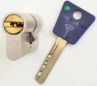 Цилиндр Mul-t-lock 7x7 105мм (40x65) ключ-ключ никель-сатин