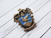 Герб Значок Когтевран из Гарри Поттера (премиум), брошь Рейвенкло в подарочной коробке
