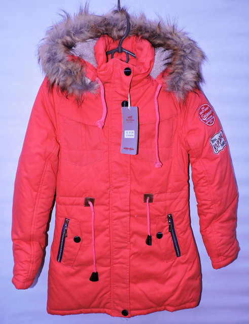 Зимова куртка -парка для дівчат 10-13 років MR коралова - Камала в  Хмельницком bd7347c131f9f