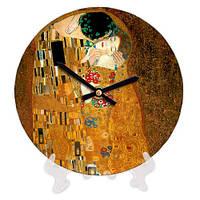 Часы круглые настольные с принтом Влюбленные 18 см