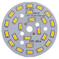 Плата со светодиодами 12 Вт (теплый белый, 1440 лм, 63 мм)