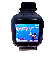 Умные детские часы с GPS трекером Q750(Q100S) черные