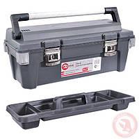 """Ящик для инструмента с металлическими замками 25,5"""" 650x275x265 мм"""