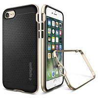 Накладка для iPhone 7 Plus силикон Spigen Case Neo Hybrid Золотой (SGP-043CS20683)