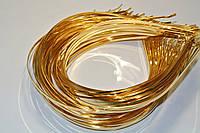 Золотой металлический обруч 3мм - заготовка для рукоделия