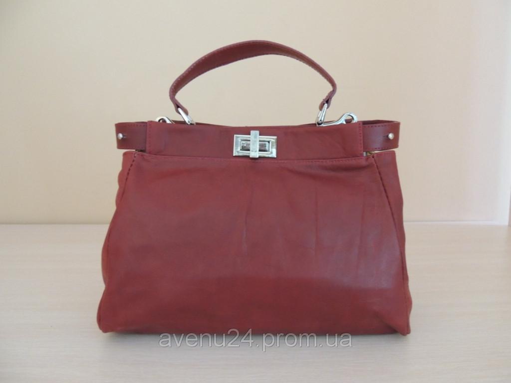 3284a57ec597 Модная женская сумка из натуральной кожи (Италия) - Інтернет-магазин