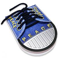 Блокнот-кеди ShoesNotes, 50 аркушів, 105*145 мм «Peace», фото 1