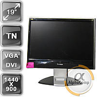 "Монитор 19"" ViewSonic VA1938wm(16:10/VGA/DVI/колонки) Class B БУ, фото 1"