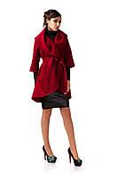 Кашемировое женское пальто. Модель ПЛ001_Бордовый.