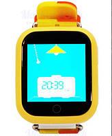 Детские часы с GPS трекером Q750 желтые (оригинал) , фото 1