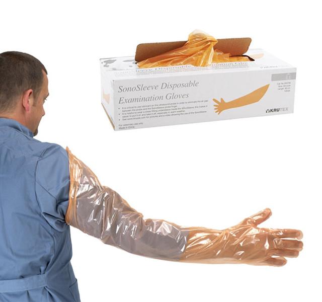 Рис. 1. Ректальні рукавиці із захистом плеча