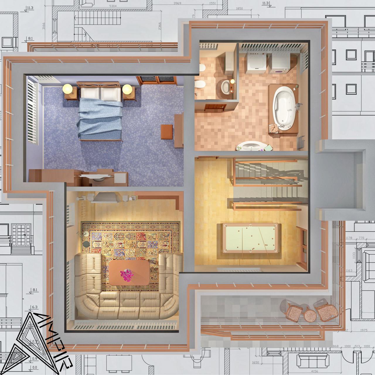 Дизайн интерьера дома, фото 1