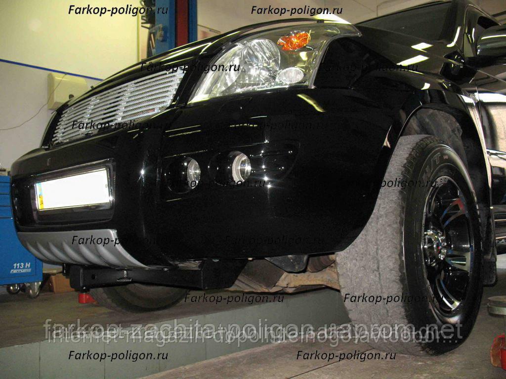 Фаркоп быстросъемный Toyota Land Cruiser Prado 120 (передний для лебедки) с 2002 г.