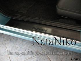 Накладки на пороги Daihatsu Sirion с 2008 г.