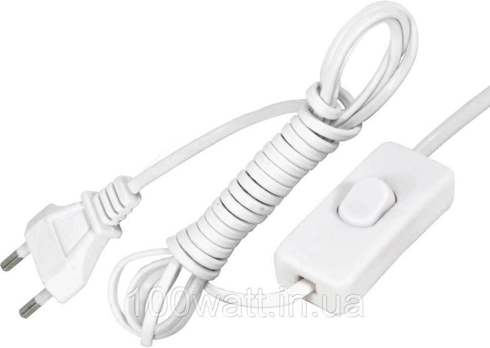 Шнур сетевой с выключателем и вилкой 1.4 м, цвет белый ST506W