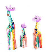 Жирафы 3 шт деревянные (25х5,5х3 см 19,5х5х3 см 15х4х3 см)