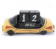 Календарь настольный Автомобиль дерево (16х7,5х6 см)