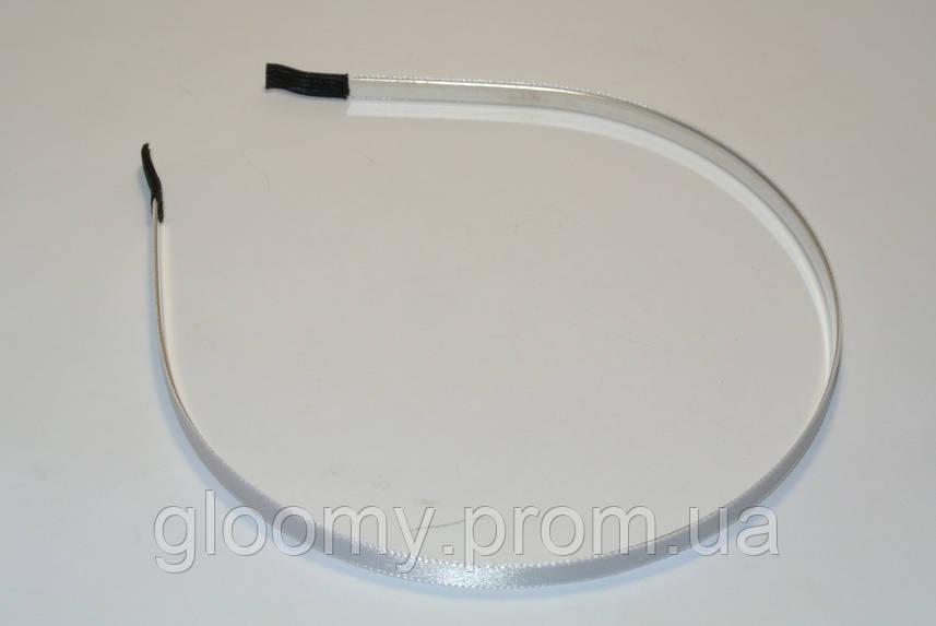 Металлический обруч обтянутый атласной лентой - заготовка для рукоделия