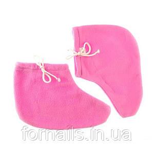 Носочки для парафинотерапии Jerden Proff флисовые, цвет розовый, пара