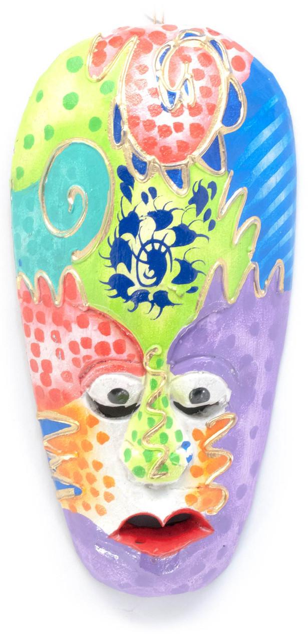 """Маска деревянная Абстракция (20,5х10х2,5 см) - Интернет-магазин """"Зелёная игуана"""" в Александрии"""