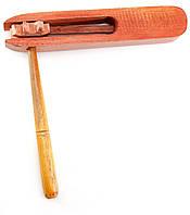 Музыкальный инструмент Трещетка красная (19х18х2,5 см)