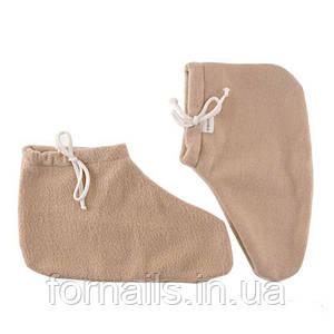 Носочки для парафинотерапии Jerden Proff флисовые, цвет бежевый, пара