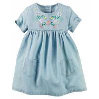 Джинсовое платье для девочки Carters 18М